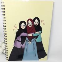 notebook cover tebal buku tulis notes catatan muslimah sahabat spiral