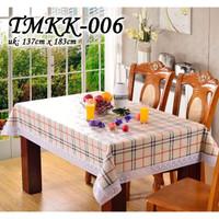 TMKK-B TAPLAK MEJA MAKAN TEBAL RENDA 137CM X 183 CM ANTI AIR