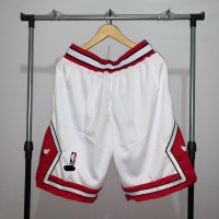 Jersey Basket Swingman Chicago Bulls Celana classic white red putih