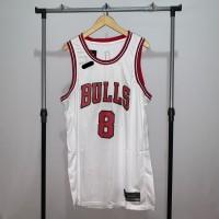 Jersey Basket Swingman NBA Chicago Bulls Zach LaVine Home white putih