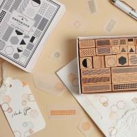 Geometric / Geometry Wood Rubber Stamp - Journal Scrapbook Vintage
