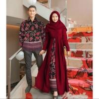 Baju Couple Muslim Family Sarwendah - Pakaian Muslim Syari Batik Murah