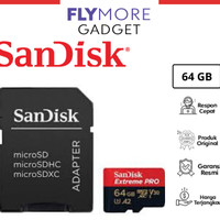 Micro SD Sandisk 64GB CL10 170MBPS A2 Extreme Pro Ori Garansi Resmi