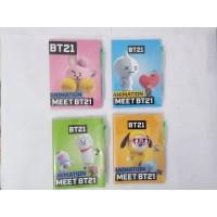Diary / Notebook / Buku catatan BT21 / BTS + pulpen mini.