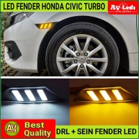 LED FENDER - HONDA CIVIC TURBO 2016 UP - DRL SEIN - PNP