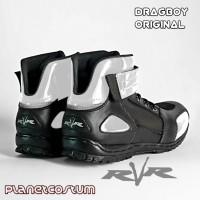 Sepatu Motor RVR Dragboy Putih Terbaru Boots touring Murah Ringan