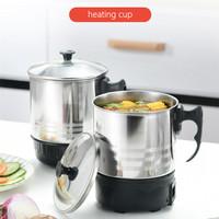 Electric Heating Cup 11cm/Mug listrik Gelas Masak/Teko Elektrik - SILIVER