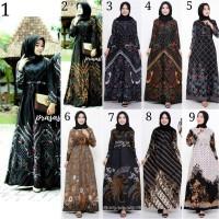 Gamis Batik Muslimah Baju Batik Gamis Wanita Muslimah Gamis Busui
