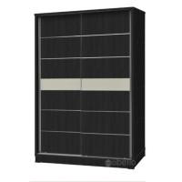 Lemari sliding 2 pintu minimalis hitam