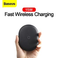 Baseus Original Cobble Wireless Charger 15W Fast Charging High Quality - Hitam