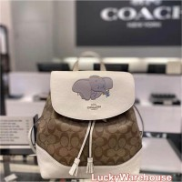 Coach X Disney Elle Backpack In Signature Canvas With Dumbo - ORI 100%