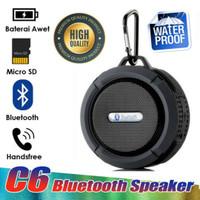 Speaker bluetooth wireless anti air model C6 + Micro SD 4 GB