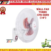TURBO Wall Fan / Kipas Angin Dinding CFR-5889 (16 Inch)