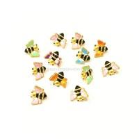 Charm gelang emas murni kupu cat