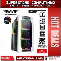 Armaggeddon Airstream S140 E-ATX Gaming PC Case - 4x 14cm Fan Included