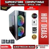 Armaggeddon Airstream R200 E-ATX Gaming PC Case - 2x 20cm Fan Included