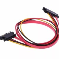 SEGERA DAPATKAN SATA CABLE KABEL COMBO POWER MALE TO FEMALE EXTENDER