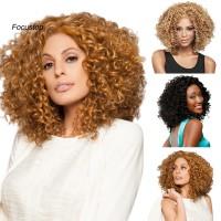 Wig / Rambut Palsu Wanita Model Panjang Keriting Afro Bahan Sinte
