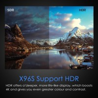 TV Box Portabel Android X96 Max Amlogic s905y2 2G / 16G WIFI bt4.2