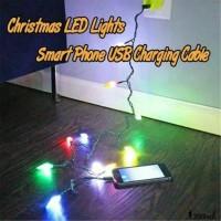 Android Kabel Charger USB Lightning dengan Lampu LED untuk iPhone /