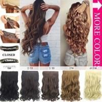Wig / Rambut Palsu Wanita Model Keriting Gelombang Panjang 50Cm B