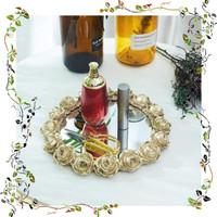 Promo Rose Tray Gold / Nampan Pajangan Emas Ruang Tamu Berkualitas