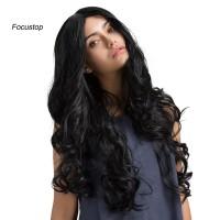 Wig / Rambut Palsu Wanita Model Panjang Keriting Gelombang Elasti