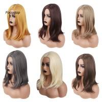 Wig / Rambut Palsu Panjang Lurus Bahan Sintetis Tahan Panas Untuk