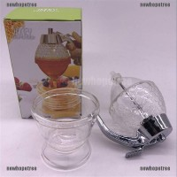 Clear Honey Syrup Dispenser Acrylic Kitchen Holder Pot Container