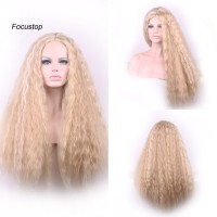Wig / Rambut Palsu Wanita Model Panjang Keriting High Quality Bah