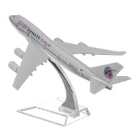 B747 QATAR Passenger Airplane Plane Aircraft Metal Diecast Model