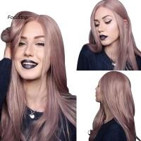 Wig / Rambut Palsu Wanita Panjang Warna Ungu Untuk Cosplay / Pest