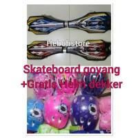 Skateboard snakeboard Goyang 2 Roda kANSA ORIGINAL GRATIS HELM