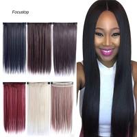 Wig / Rambut Palsu Wanita Model Clip On Lurus Panjang + Lurus