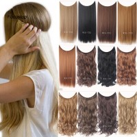 Wig / Rambut Palsu Wanita Model Panjang Lurus / Keriting Invisibl
