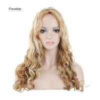 Wig / Rambut Palsu Wanita Model Panjang Keriting Bergelombang War