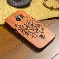 S7 Casing Pelindung Bahan Kayu untuk Samsung Galaxy Edge