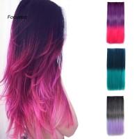 Wig Extension Rambut Panjang Lurus Tahan Panas Warna Gradasi Untu