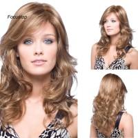Wig / Rambut Palsu Wanita Model Panjang Medium + Bergelombang Unt