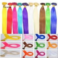 10Pcs 16Inches Wig Extension Rambut Sintetis Panjang Lurus Warna