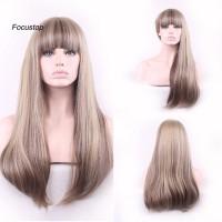 Wig / Rambut Palsu Wanita Model Panjang Lurus Untuk Cosplay / Pes
