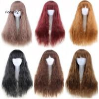 Wig / Rambut Palsu Wanita Model Panjang Keriting Gelombang Panjan