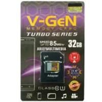 Micro Sd Memory card memori hp V-GeN 32gb Class 10 Turbo + Adapter