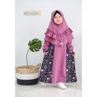 Gamis anak syari balita 2 3 4 5 6 tahun Baju muslim anak perempuan -