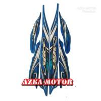 striping stiker Yamaha Mio smile biru 2010 / sticker Mio karbu biru
