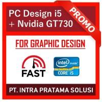PC Design / Gaming Core i5 + Ram 8GB + SSD 120GB + Nvidia GT730 2GB