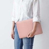 Tas Laptop Softcase Macbook SPULeather 13 inch pink