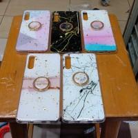 softcase Case motif Glitter marbel plus iring Samsung a50 a50s a30s