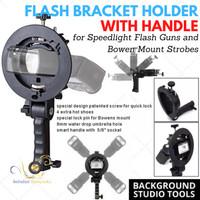 Bracket Tipe S Bowens Mount untuk Holder Lampu Flash Payung Softbox