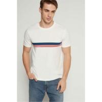Kaos Original GAP Essential Short Sleeve Striped Shirt New Off White